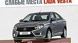 Slabé stránky Lada Vesta