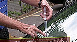 Oprava třísek a prasklin na čelním skle automobilu