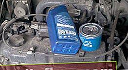 Menjava olja in filtra olja Mitsubishi Lancer